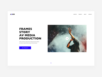 YKIM — Website homepage simple white minimal cinematography video production video production website personal webdesign identity brand branding
