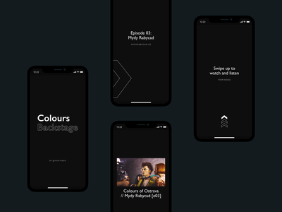 YKIM — IG Stories typography vector identity design personal instagram social media promotion promo production video video production minimal black dark brand identity branding