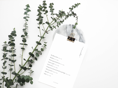 BYSSINE x GBM — Pricelist flyer design print typography graphic design marketplace beauty product beauty lifestyle design print design pricelist