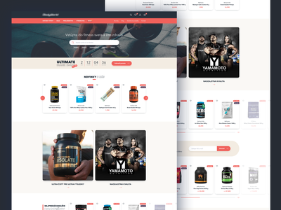 Fitness supplements site uidesign ux ui figma adobexd sketchapp fitness sport ecommerce eshop webdesign website