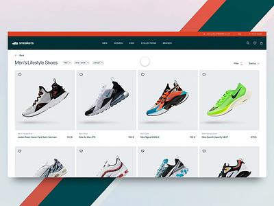 Sneakers eshop concept adobexd concept website ui ux wear sport sneakers eshop e-commerce animation