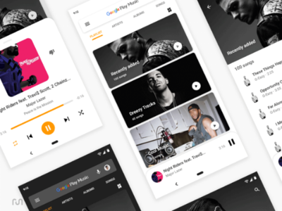 Google Play Music Redesign user interface dribbble google play experience concept idea interface user ui design music