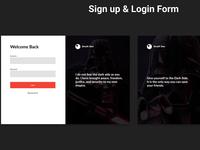 Sign Up & Login