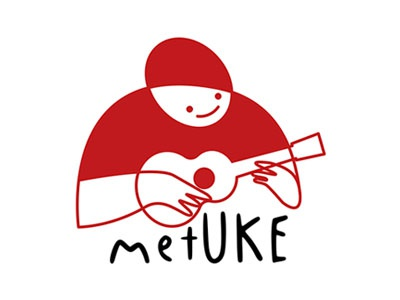 metUKE Logo Design logo design unisex red music uke graphic metu metuke logo