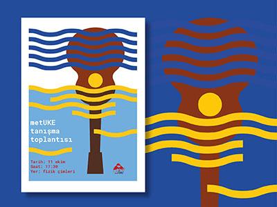 metUke poster 1 graphic design summer sun music metuke metu uke poster
