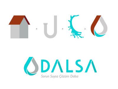 Dalsa Logo slogan branding plumber logo design