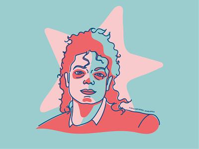 Michael Jackson ☆ illustration popstar portrait music illustrator graphic design artwork