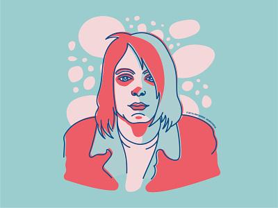 Kurt Cobain illustration illustrator nirvana grunge music graphic design portrait artwort kurt cobain