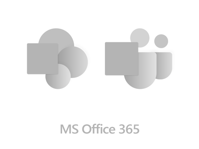 Microsoft office redesigned icons material paper redesign concept office microsoft grey minimal font drawing vector shadow design illustration
