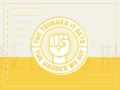 The Tougher It Gets The Harder We Hit stay home coronavirus covid covid-19 badge design line series icon badge graphic design harder power boxing tough hit fist graphic design illustration church