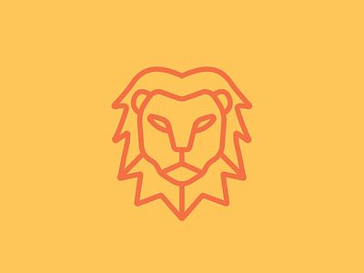 Lion illustrator vector minimalism line geometry animal lions and bears design mane illustration icon lion