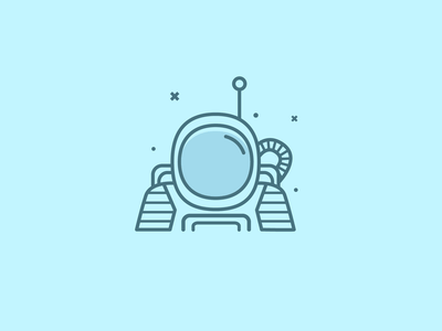 Astronaut extraterrestrial universe galaxy vector space space helmet astronaut spacesuit planets line art icons stars icon design graphic illustrator illustration