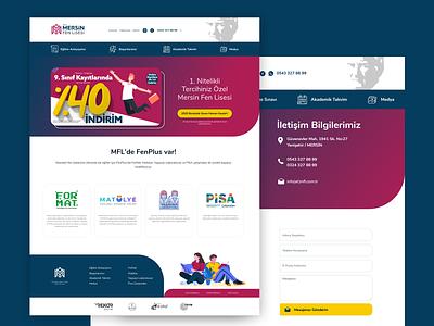 High school website interface design purple web website ux ui high school design webdesign interface