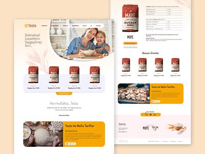 Testa Flour web webdesign design ui website