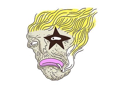 Rock Star illsutration sticker star rock