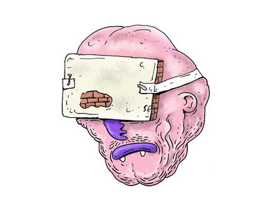 Vr sticker virtual reality vr