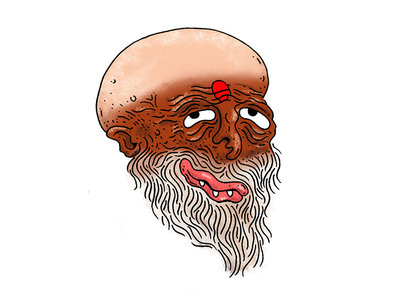 Hindu Sadhu illustration sticker head sadhu hindu