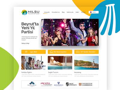 Tourism Agency nilsu touisim website webdesign interface ui web