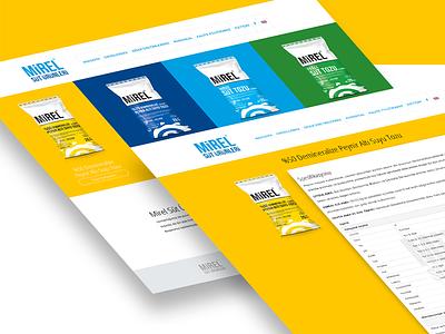 Mirelsut website webdesign web ui milk interface