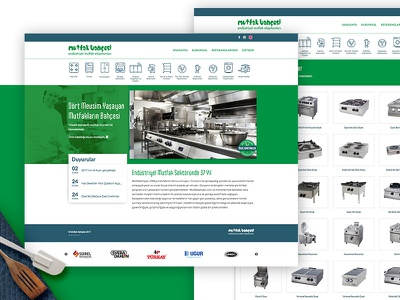Mutfakbahcesi kitchen website webdesign interface ui web