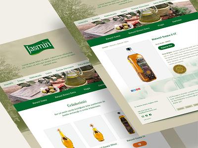 Jasmin Olive icon oliv olive website webdesign web ui interface