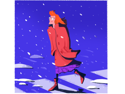 Snow color snow character design cartoon photoshop illustration digital