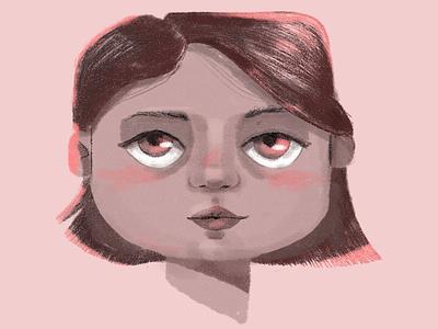 Character female portrait design character photoshop drawing color digital illustration