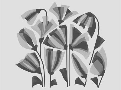 Flowers flower bw pattern photoshop digital design illustration