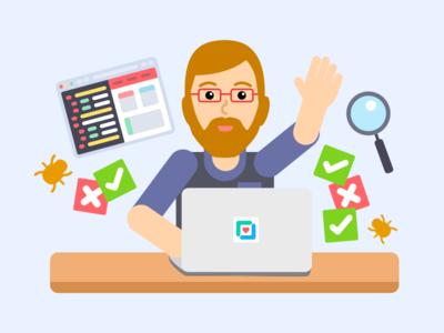 QA Engineer: Illustration bugs programmer illustration developer now hiring hiring jobs career engineer qa engineer qa