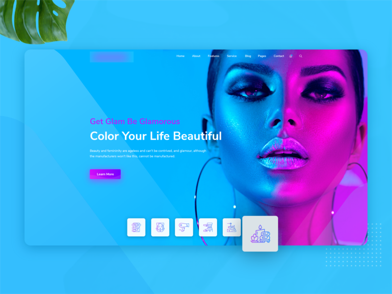 Beauty Salon Landing Page - Hero Banner