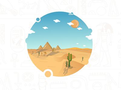 Egypt illustrations pyramid egypt