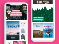 Clothing Retailer Homepage Mobile