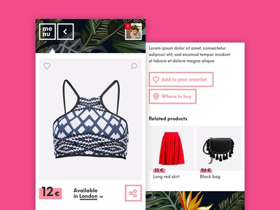 Clothing Retailer Product Page