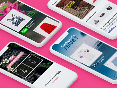 Clothing Retailer Website Mobile