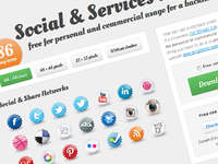 Social and Services Icon Set