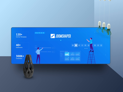JoomShaper Social Anim 2020 trendy marketing vector animation 2d page builder after effects animation branding illustration web design