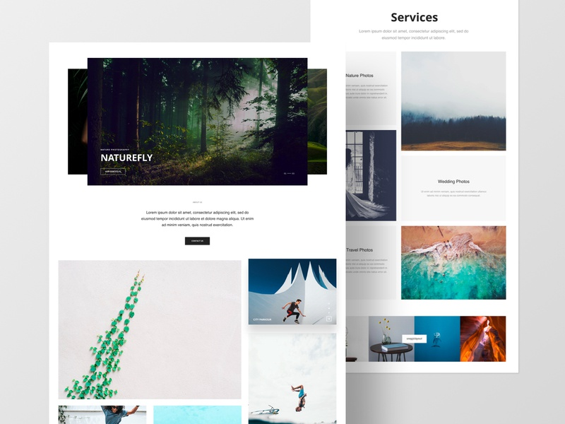 Photography Studio - Layout Bundle studios page builder website portfolio photography template joomla layouts business agency sketchapp web minimal clean landing page web design ux ui typography design