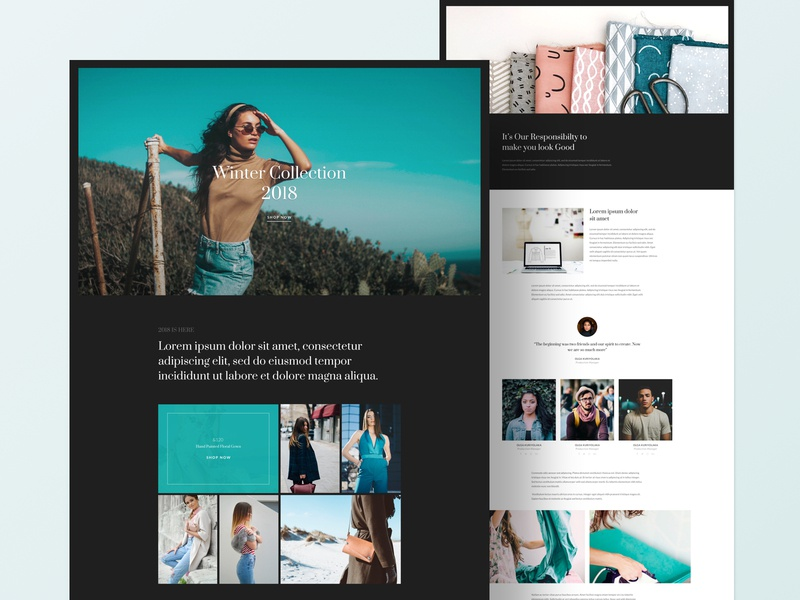 Fashion - Layout Bundle shop store fashion page builder joomla website business web clean web design ui ux typography design