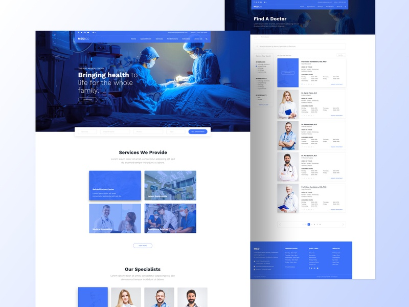 Medico - Joomla Template directory web application page builder dental doctor clinic medical template joomla website business web clean web design ux ui design