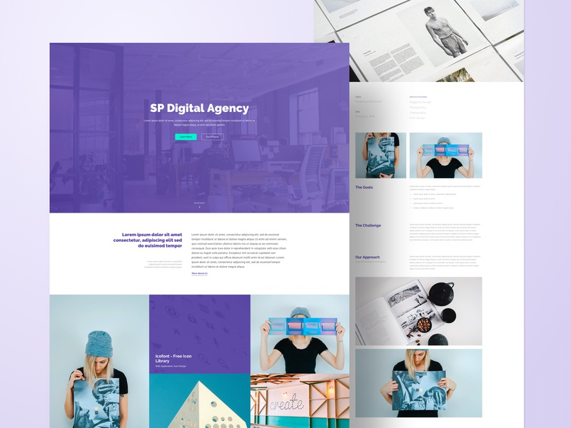 Agency - Layout Bundle layout corporate agency creative page builder joomla website business web typography web design ux ui design