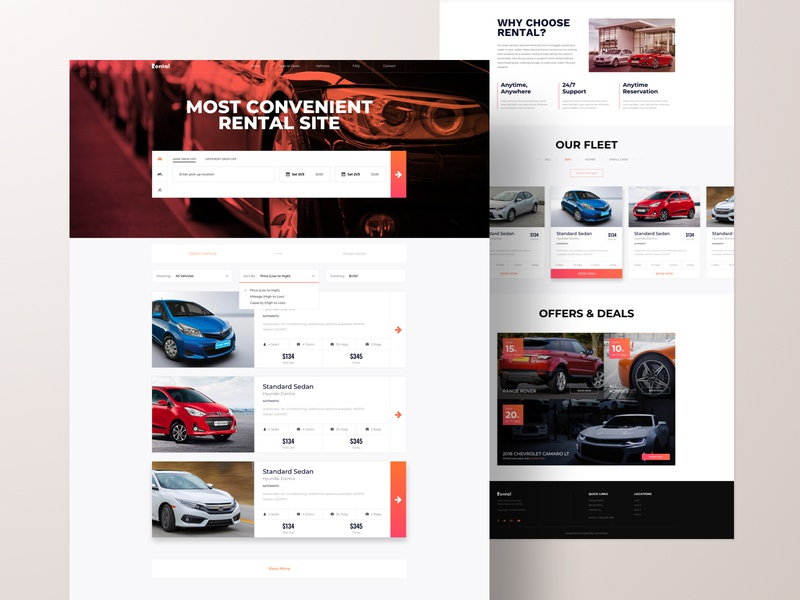Rental - Joomla Template Early Concept car rental rental web application landing page agency website business web web design ux ui design