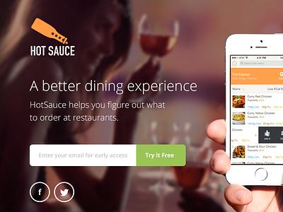 Sauce app landing page app landing page iphone ios ui interface web design background image