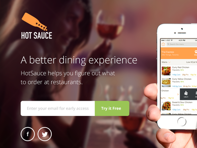 Sauce app landing page app landing page iphone ios ui interface web design background image