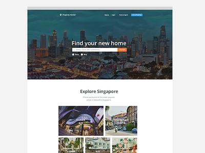Property hunter web design green orange estate agents housing realestate clean whitespace