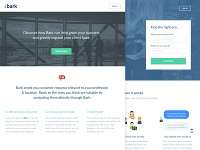 Bark  dashboard icons whitespace green clean blue interface ui web design marketing site landing page redesign