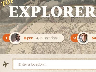 Top explorers design milo map app pin location search ui