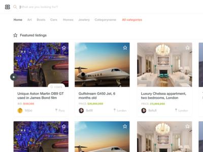 Bb2 auction ux ui website mobile design product design freelance designer