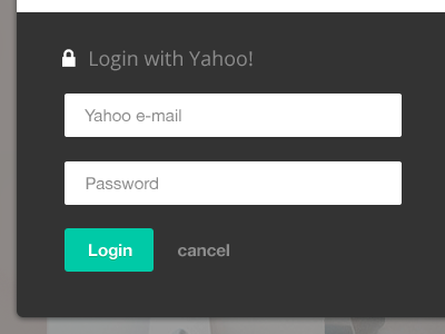 Login form user interface form login signup call to action cta ui unrollme green tooltip web app application teal helvetica grey whitespace icons