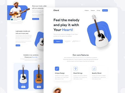 Chord - Product Web Page UI uiux musical instrument clean ui instrument music web design web user experience visual identity colors user interface website branding graphic design product design typogaphy design landing page ux ui