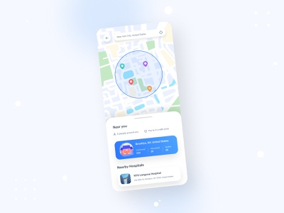 Covid Tracker App UI app illustration hospital doctor uiux typography mobile ui interface covid tracker corona design app ui covid app tracker status health covid mobile app ux ui